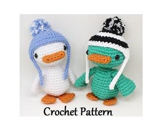 Winter Duck crochet pattern