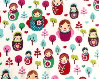 One Fat Quarter of Fabric Material - Svetlana's Forest