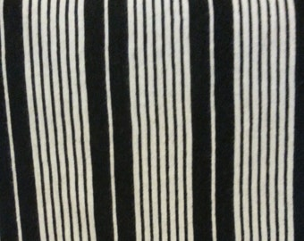 Black & White Striped Jersey Knit