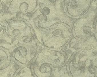Benartex - Normandy Court - Grey Scroll - Fat Quarter