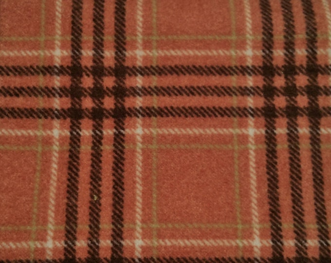 Maywood - FQ - Woolies - Large Plaid Rose Flannel