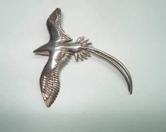 Swallowtail Bird Sterling Silver Pendant