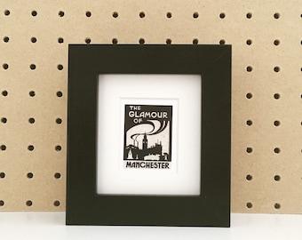 Glamour of Manchester Shelf Frame in Black
