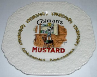 Lord Nelson Pottery Colman's Mustard Advertising Plate