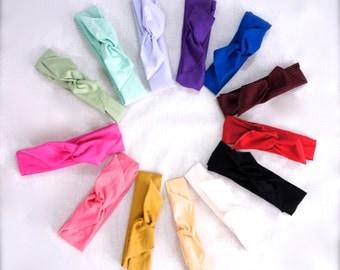 Solid Color Tie Up Boho Headband, Boho Headband, Dolly Bow, Wire Headband, Baby Headband, Bow Headband, Women's Headband