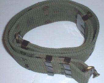 US Military M-1956 pistol belt, Medium, Hollander company, vertical weave