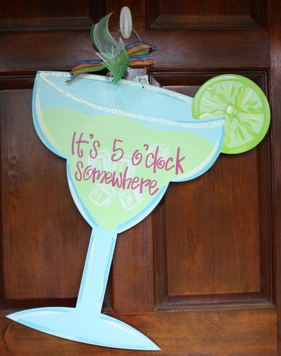 Salted Margarita Glass Door Hanger It S 5 00 Somewhere