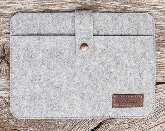 "MacBook Pro Air felt case sleeve, merino wool, ""Fachwerk"" suitable crafted by werktat"
