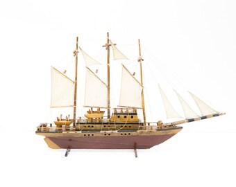 Wooden Clipper Ship Model