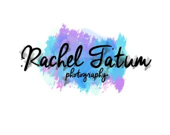 """Custom Premade Photography Logo and Watermark """"Watercolor1"""" - Exclusive Package Bulk Rate"""