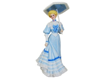 Gorham On the Boardwalk The Parasol Ladies Porcelain Figurine, Victorian Gibson Lenox Limited Edition