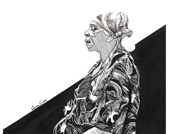 Limited Edition Print of New Orleans Blues Singer, Ann Cook