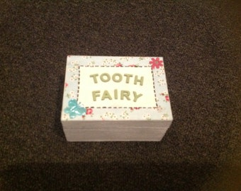 Tooth fairy box shabby chic,  vintage