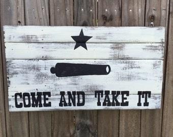 Texas Battle Flag pallet Sign