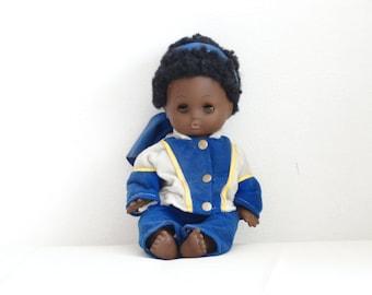 Vintage Black Girl Doll, Vintage Toy, Black Doll, African-American Doll