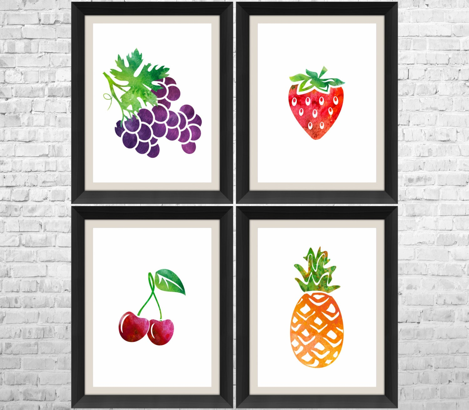 Fruits Prints Fruit Decor Fruit Kitchen Art Kitchen