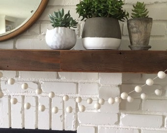 Cream Felt Ball Garland