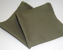 Fatigue Green Pocket Square