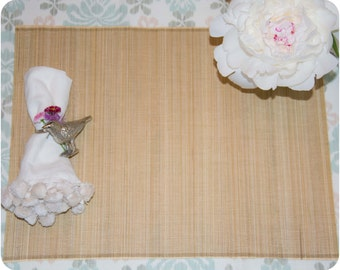 ON SALE: Environmentally friendly & chic bamboo placemats - set of four