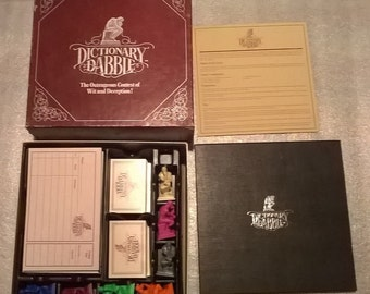 Vintage 1986 DICTIONARY DABBLE Board Game