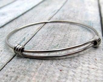 Stainless Steel Bracelet - Stainless Steel Bangle Bracelets - Hand Stamping Supply - Bracelet Blank - Expandable Bangle Bracelet (076)