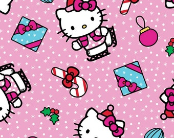 Per Yard, Hello Kitty Present Toss Fabric From Springs Creative