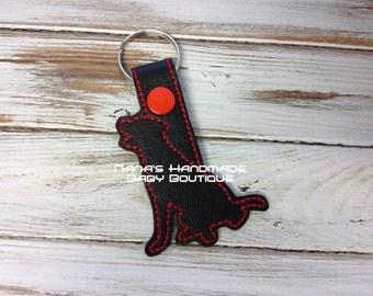 LAB Outline - Labrador Retriever -  In The Hoop - Snap/Rivet Key Fob - DIGITAL Embroidery Design