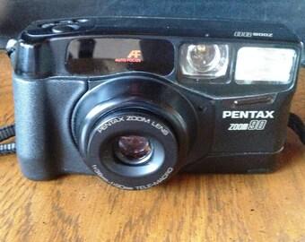 Classic Black PENTAX ZOOM 90 AF 35mm Lomography Film Camera