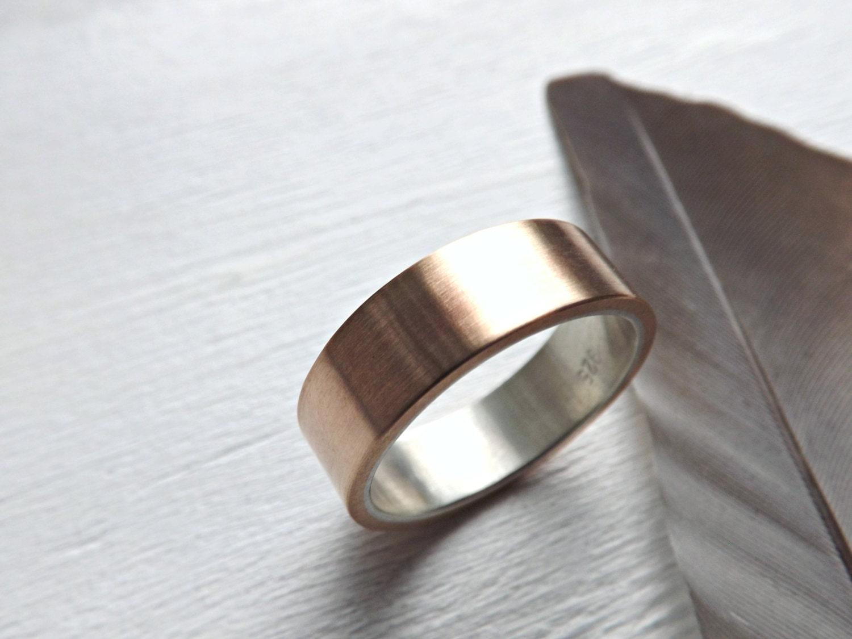 mens wedding band bronze wedding ring mens ring by crazyassjd
