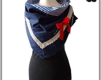 Shawl Collar Loop Autumn Winter Christmas gift towel Rockabilly Gothic points