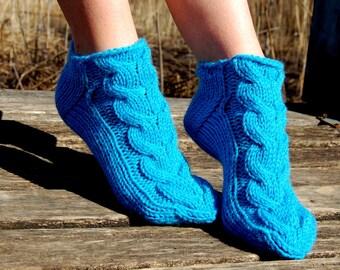 Knitted slipper socks,  Hand knit wool socks, Hand knit slippers, Knitted Wool Socks, knitted wool slippers, Wool socks for women