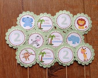 Safari Personalised Cupcake Toppers