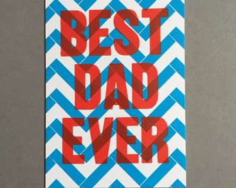Father's Day Lego Letterpress Card
