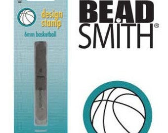 Basketball Metal Stamp, 6 mm (1 pc)