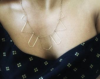 Geometric Necklace in 14 Karat Gold Filled