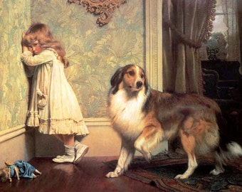 A Special Pleader by Charles Burton Barber 8x10 Canvas Print