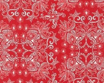 ON SALE - 1/2 Yard - In the Bloom - AVW-15254-302 - Poppy - Valori Wells - Robert Kaufman Fabrics - Fabric Yardage