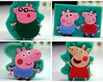 PeppaPig cake mold Peppa Pig Cookies Jelly mold Peppa Pig Choco Mold Peppa Pig Party Peppa Pig Birthday Peppa Pig toppers Peppa Pig CupCakes