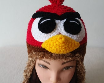 Angry Birds Crochet Hat, Birthday gift, Christmas gift.