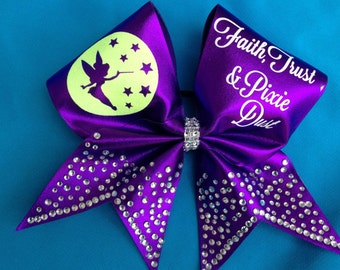 Big cheer bow-Pixie Dust
