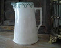 Beautiful, Vintage, Boch, Pottery,Water Pitcher, Milk Jug, Boch Freres Keramis