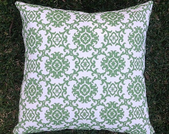 Green Outdoor Cushions, Moroccan medallion Outdoor Pillows Tropical Boho Tommy Bahama Green Pillows Alfresco Cushions Tropical Pillows