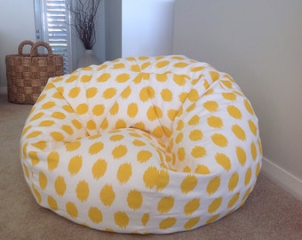 Bean Bag Kids Adults Spots Dots Seafoam