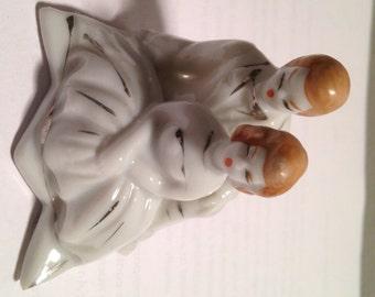 Vintage White Porcelain Wedding Cake Topper
