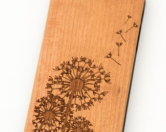 Dandelion Wooden iPhone 5 5s iPhone 6 case walnut bamaboo wood iphone case