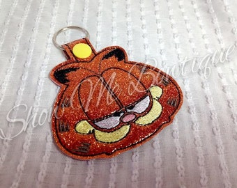Mischievous cat Key Fob/Zipper Pull design Instant Download