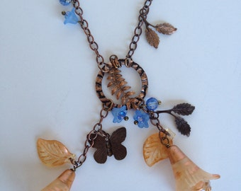 Golden Blossoms Vintaj Necklace