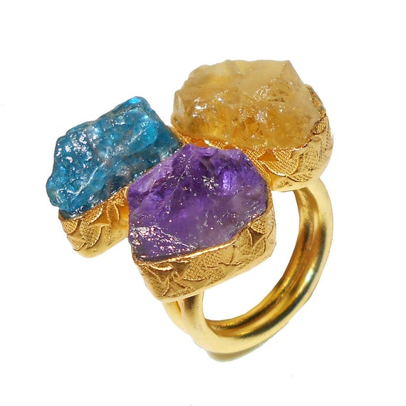 gemstone ring unique ring ring citrine by