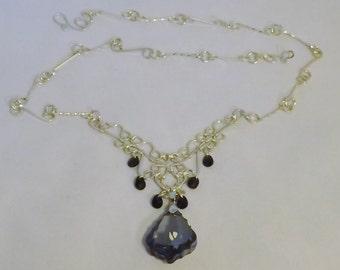 Wire Wrap Filigree Necklace (Wire Wrap Jewelry, Handmade Wire Wrap Jewelry, Handmade Jewelry)