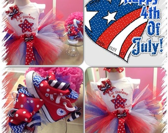 4th of July Tutu Set AND Converse